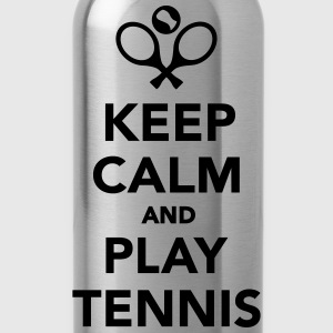 Keep calm and play Tennis T-Shirts - Trinkflasche