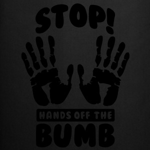 Stop! Hands off the bumb Toppar - Förkläde