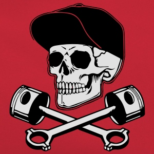 SKULL AND PISTONS T-shirts - Retro-tas