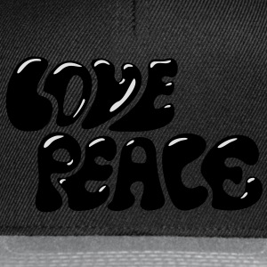 Love Peace seventies 70s retro style flower power Magliette - Snapback Cap