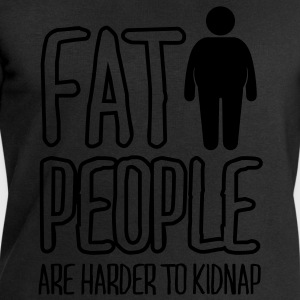 fat people are harder to kidnap T-shirts - Herresweatshirt fra Stanley og Stella