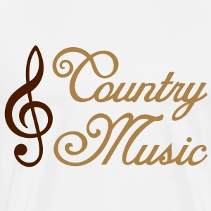 Country Music * Clef * solsleutel Tops - Mannen Premium T-shirt