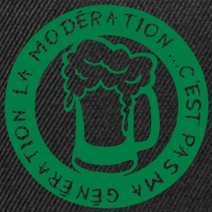 moderation generation alcool biere verre Tee shirts - Casquette snapback