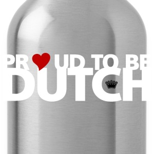 Proud to be Dutch (witte tekst) T-shirts - Drinkfles