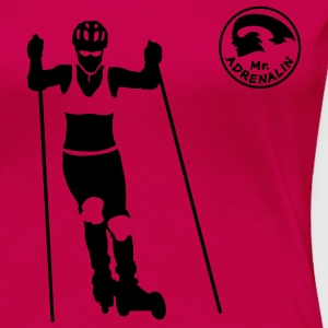 nordic cross skating Tops - Frauen Premium T-Shirt