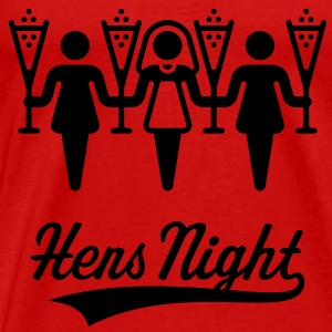 Hens Night, Women's Shoulder-Free Tank Top - Men's Premium T-Shirt