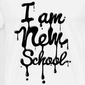 I am new school (Swag,Dope,Hipster) T-Shirts - Men's Premium T-Shirt