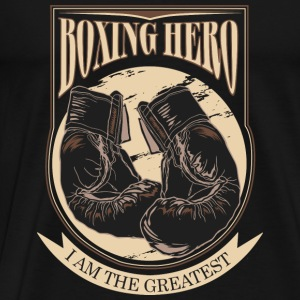 Boxing Hero - The Greatest - On Dark T-shirts - Herre premium T-shirt