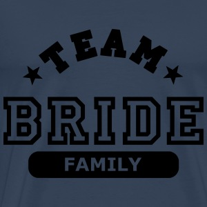 team bride family Topper - Premium T-skjorte for menn
