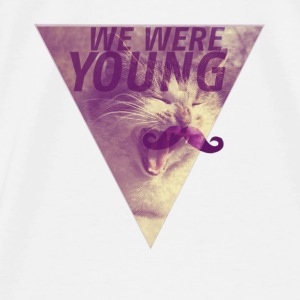 CAT+MOUSTACHE+WE WERE YOUNG+HIPSTER+TRIANGLE+EGYPT T-Shirts - Männer Premium T-Shirt