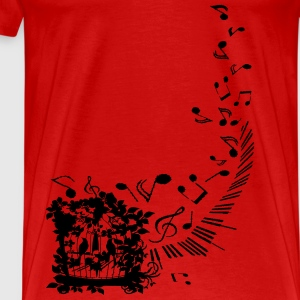 Singing Birds Women's Spaghetti Top - Men's Premium T-Shirt