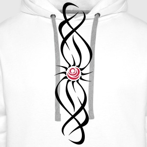 'Rose Tribal' Women's Tank Top - Men's Premium Hoodie