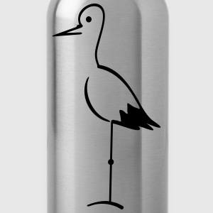 Storch / stork (1c) T-Shirts - Water Bottle