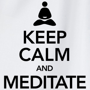 Keep Calm And Meditate Tops - Turnbeutel