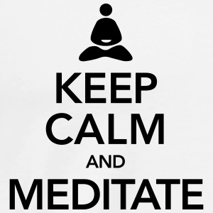Keep Calm And Meditate Topper - Premium T-skjorte for menn