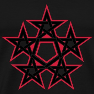 Pentagram, 5 Stars, Pentagon, Golden Ratio Tops - Men's Premium T-Shirt
