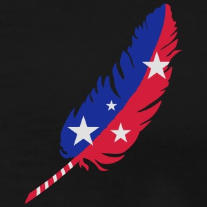 A feather-blue, red with stars T-Shirts - Men's Premium T-Shirt