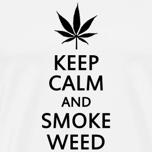 keep calm and smoke weed T-Shirts - Men's Premium T-Shirt