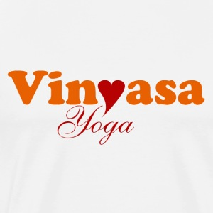 Vinyasa Yoga with Heart Tops - Männer Premium T-Shirt