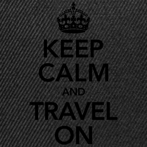 Keep Calm And Travel On T-Shirts - Snapback Cap