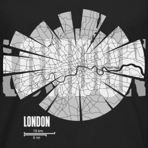 London Tops - Camiseta de manga larga premium hombre