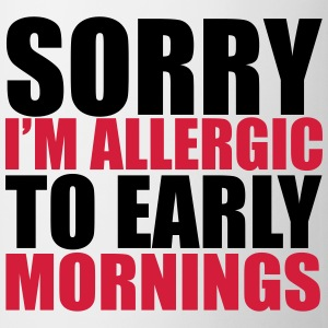 Allergic To Mornings Tops - Mug