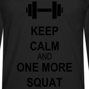 Keep calm and squat Tops - Camiseta de manga larga premium hombre