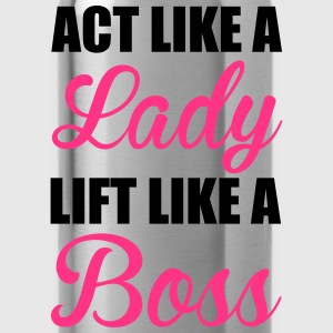 Lift Like A Boss Tops - Trinkflasche