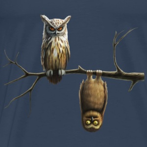 lille ugle (Owls) Toppe - Herre premium T-shirt