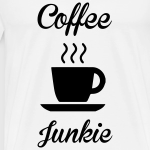 Coffee Junkie Toppe - Herre premium T-shirt