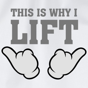 This Is Why I Lift (Comic Hands) T-shirts - Gymtas