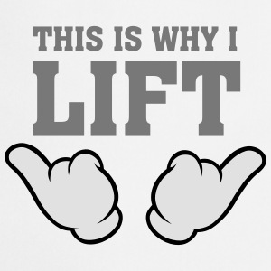 This Is Why I Lift (Comic Hands) Topy - Fartuch kuchenny