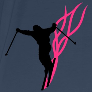 downhill ski flaming Tops - Men's Premium T-Shirt