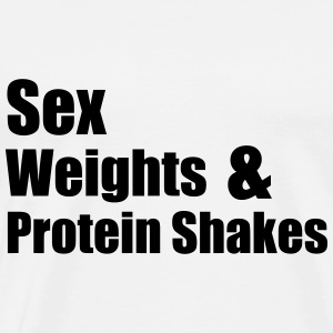 Sex Weights T-shirts - Premium-T-shirt herr