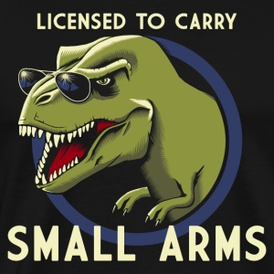 Svart Licensed to Carry small arms Tanktoppar - Premium-T-shirt herr