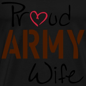 Army Wife Topper - Premium T-skjorte for menn