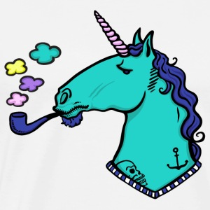 White Unicorn with tattoos and beard Sports wear - Men's Premium T-Shirt