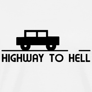 Car - Highway to hell T-Shirts - Men's Premium T-Shirt
