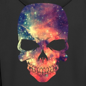 Universe - Space - Galaxy Skull Tops - Men's Premium Hooded Jacket