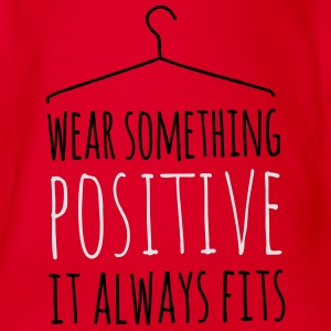 wear something positive be happy smile love life Tee shirts - Body bébé bio manches courtes