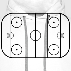 Hockey field T-Shirts - Men's Premium Hoodie
