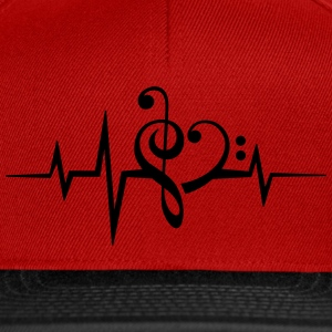 Frequency music notes clef heart pulse bass beat T-Shirts - Snapback Cap
