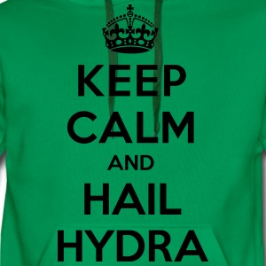 Keep calm and hail Hydra T-skjorter - Premium hettegenser for menn