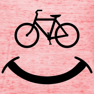 Bicycle Smiley T-Shirts - Women's Tank Top by Bella