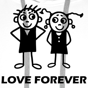 Couple - Love forever T-Shirts - Men's Premium Hoodie