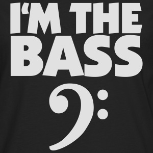 I'm the Bass (Weiß) T-Shirts - Men's Premium Longsleeve Shirt