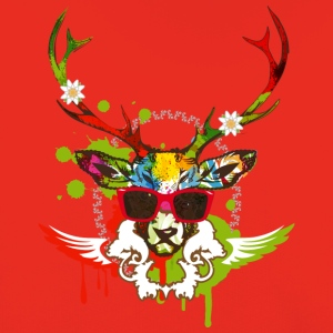 A stag's head with red sunglasses Shirts - Kids' Premium Hoodie