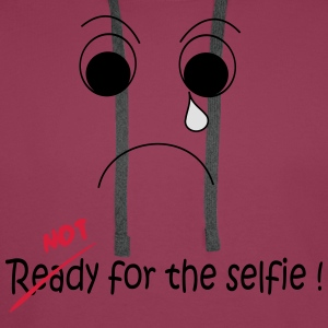 Not Ready for the selfie T-shirts - Premiumluvtröja herr