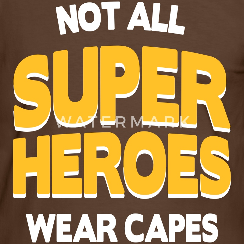 Not All Super Heroes T-shirts - Mannen contrastshirt