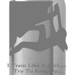 Rock Climbing Girl T-Shirt - Water Bottle